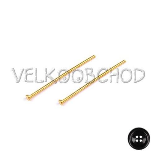 Ketlovací nýty 30 mm (500 ks) - zlato