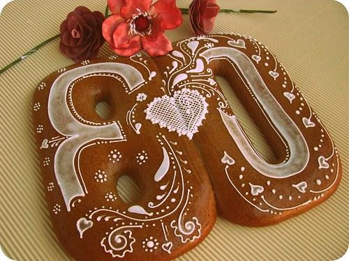 narozeninové číslo 80 - perník