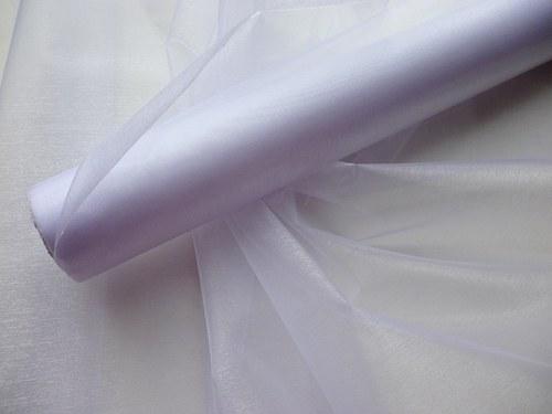 Organza bílá neobroubená (barva č.1)