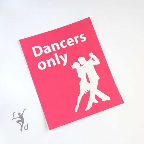 Samolepka DANCERS ONLY