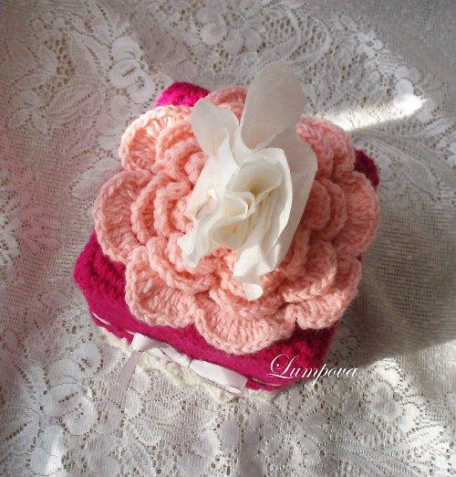 růžový květ obal na kapesníky výprodej