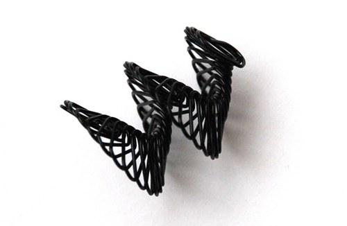 spirálka z drátku- černá