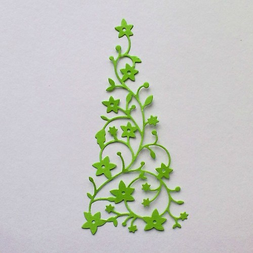 Výsek - květinový stromek  1ks