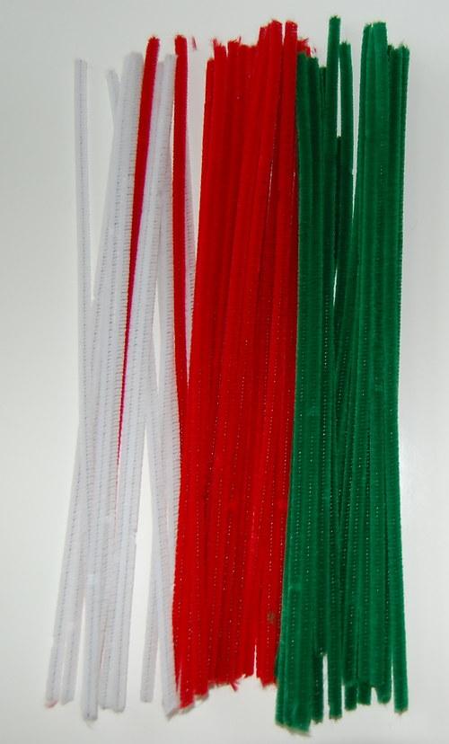 Červený chlupatý drátek - tenký (víc využití)