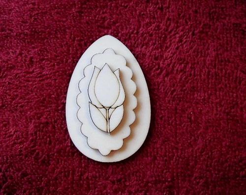 3D zápich na špejli vejce+tulipán -3ks