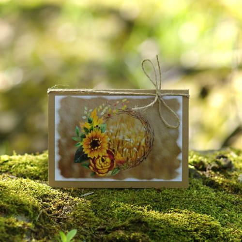 Slunečnice v obilí - přání