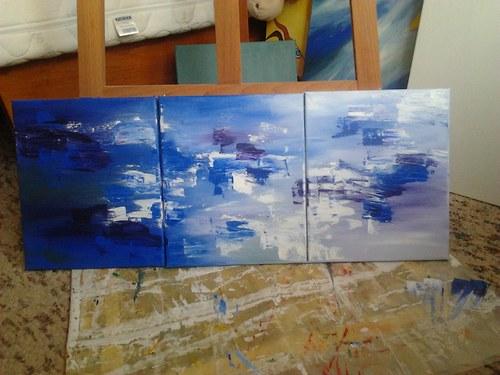 Triptych v modrém - SLEVA