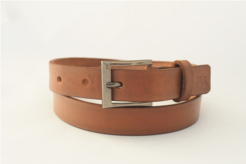 Kožený pásek 2,8 cm- ořech -SKLADEM