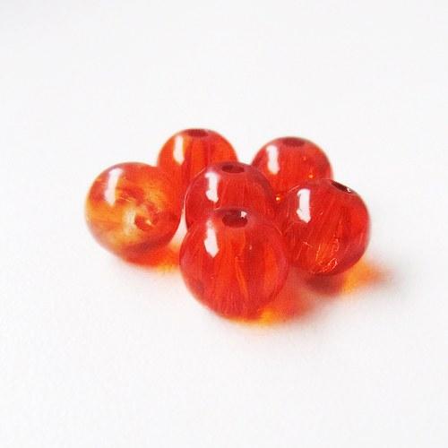 Praskačky 8 mm - oranžové- 20 ks
