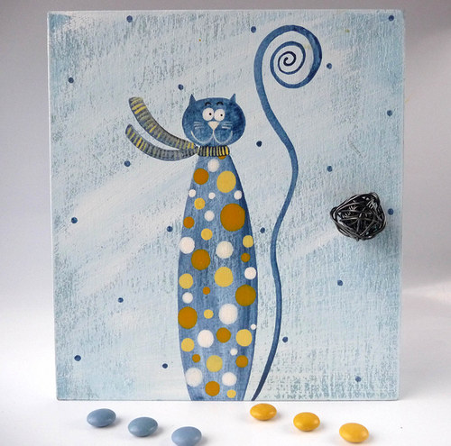 Sušák trpaslíků s alarmem - modrý s Hubertem