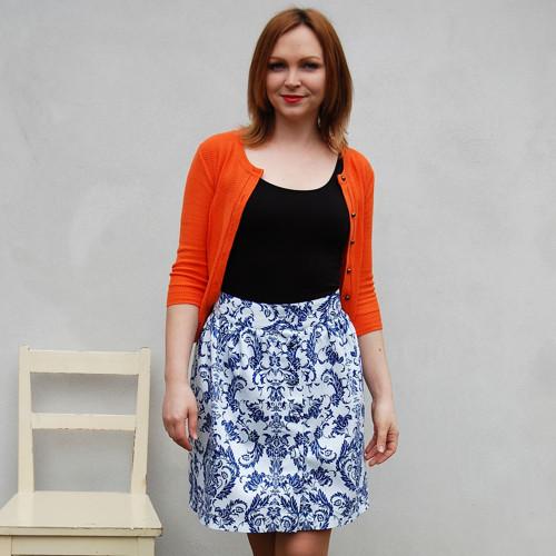 Dámská sukně Lola - modrobílá