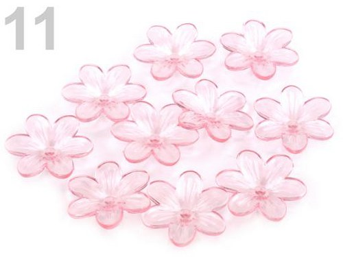 Květ plast Ø26mm 10 kusů