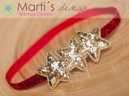 čelenka s hvězdou vánoční · Marti´s design a9e02319c1