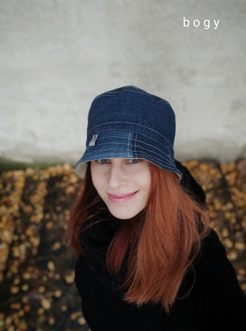 tmavý hluboký riflový recy klobouk, unisex 54/55cm
