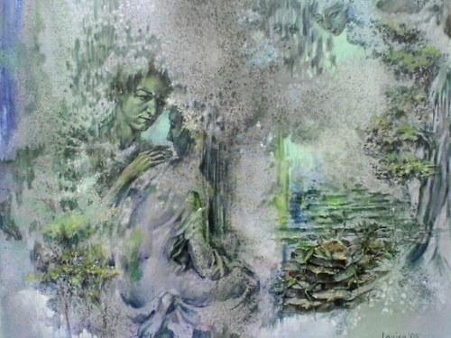 Sny - akryl, plátno, 50 x 60 cm