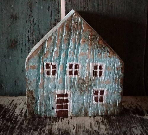 Rustikální dřevěný domeček