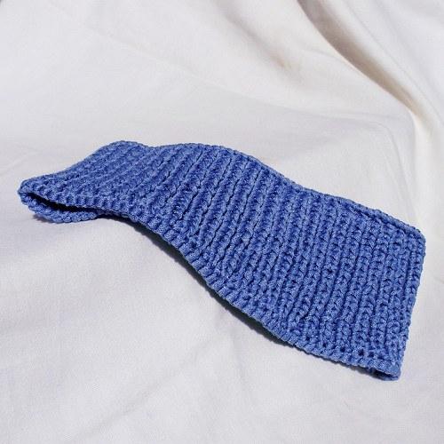 Pletená modrá čelenka / nákrčník