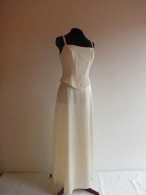 Svatební šaty smetanové 31-vel.42