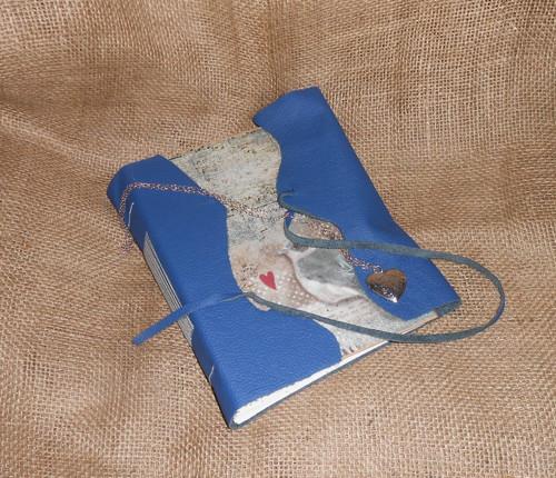 Kožený zápisník - Klíč od srdce s medailonkem