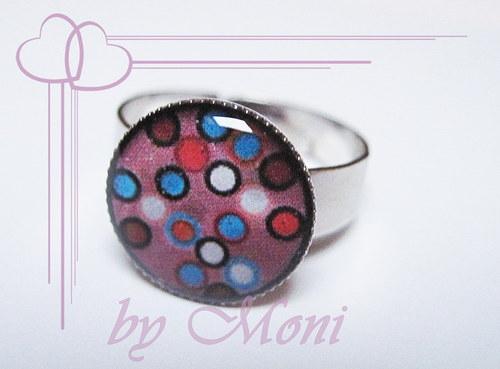 Prstýnek fialový s tečkami