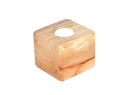 svícen - paletová kostka (bez ražby) buk, vosk