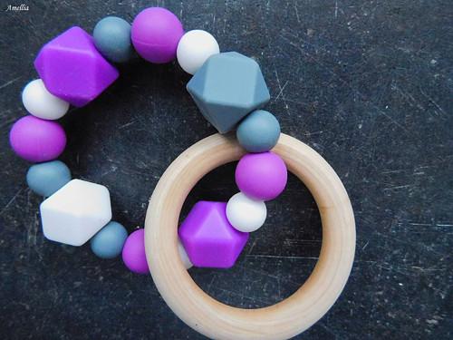 Kousátko pro miminka - fialové