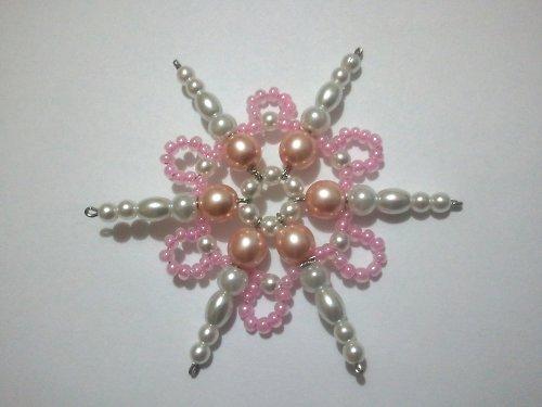 Vánoční ozdoba - hvězda růžová