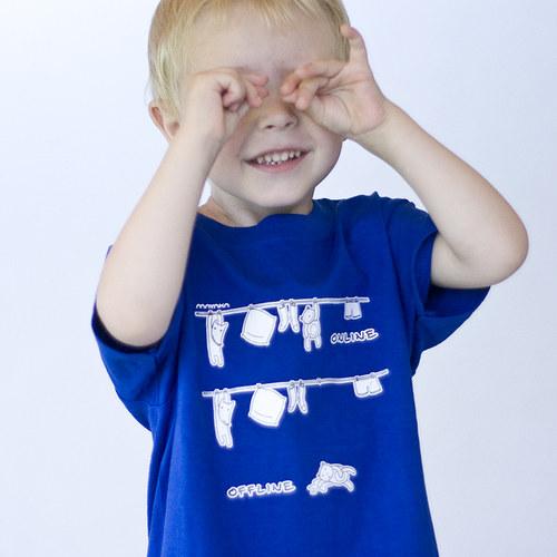 Dětské triko  Online/Offline