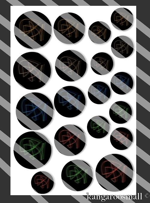 Motivy křišťálová pryskyřice: Lights 30,25,18mm