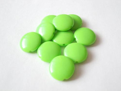 Lesklé lentilky zelené 10 ks 12kč
