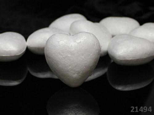 21494 EPS výlisek polystyrénové srdce 50mm, á 1ks