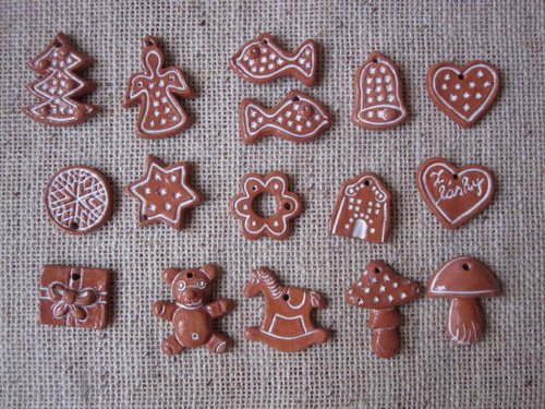 vánoční drobnosti jakoby perníčkové