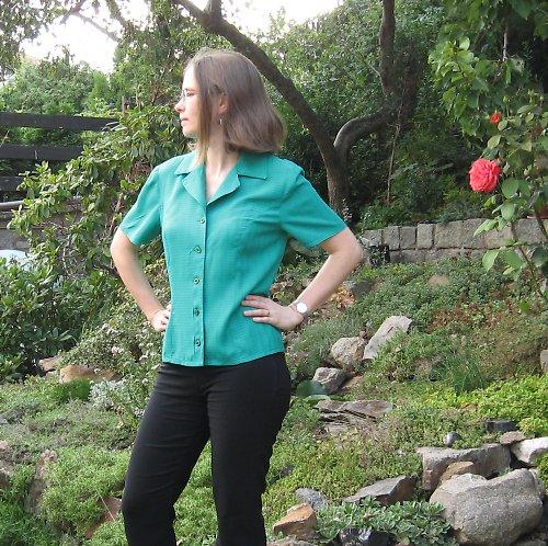Zelená halenka pro lesní vílu