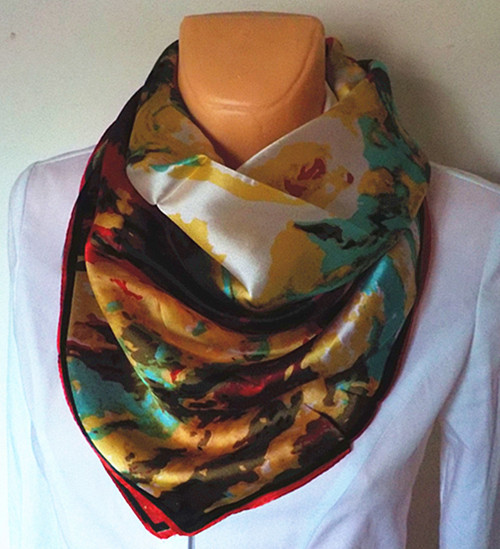 Velký hedvábný šátek----zahrada 6