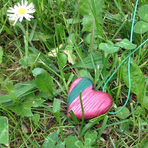 Náhrdelník Srdce červené se zelenou