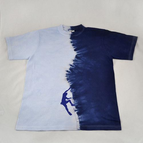 Modré triko s horolezcem L