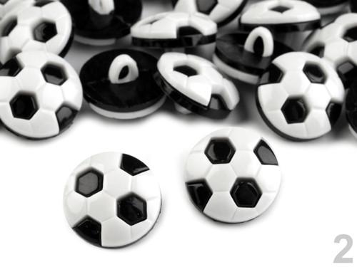 Knoflík míč 15,5mm (10ks) - černá