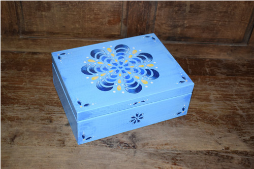Malovaná krabička na čaj - mandala