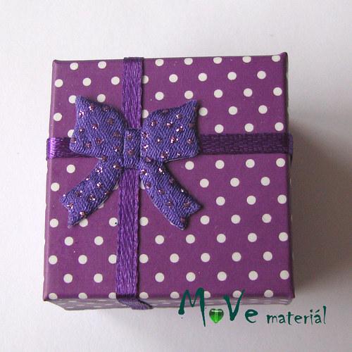 Krabička papírová na prstýnek 40x40x30mm, fialová