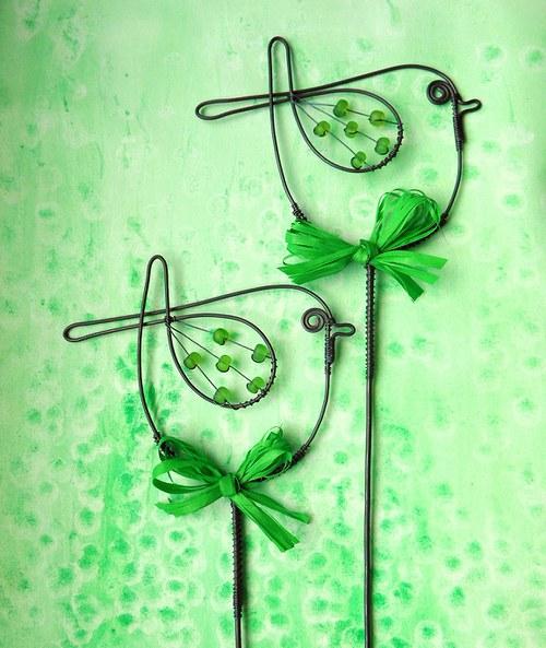 Ptáček  zelený - zápich