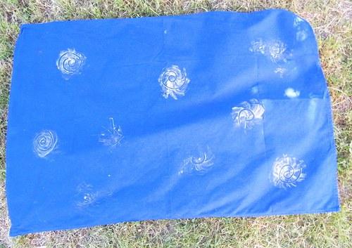 Ubrus modrý spirála