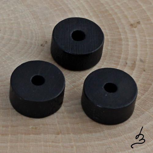 Dřevěná kolečka černá II./5 - 7 ks