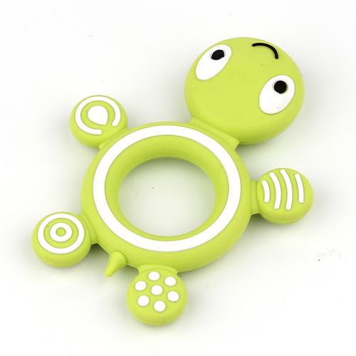 Zelená želvička - silikonové kousátko