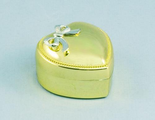 Zlaté srdíčko - krabička na šperky