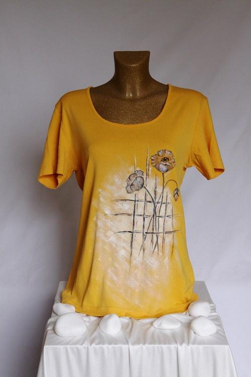 Malované tričko, vel. větší L (XL)