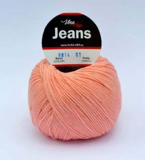 Jeans lososová 8014
