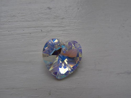 Swarovski srdce Crystal AB 14, 4mm