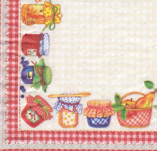 Ubrousek - ovoce a marmelády