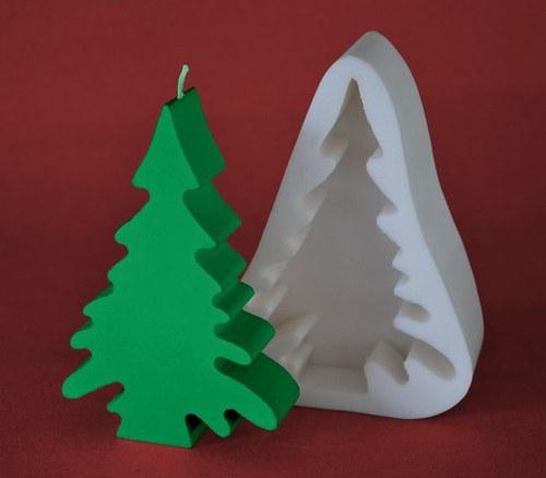 Forma na svíčky Stromeček plochý - výška 13cm