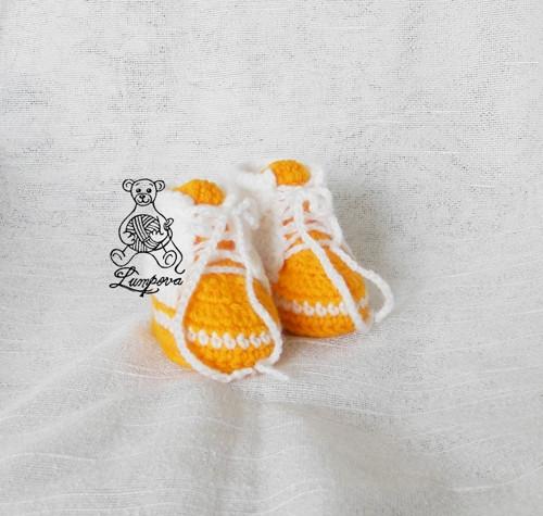 Háčkované tenisky s volbou knoflíčků
